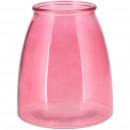 Glass lantern Lugos, D13cm, H16cm, pink